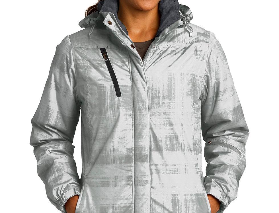 Port Authority® Ladies Brushstroke Print Insulated Jacket L320