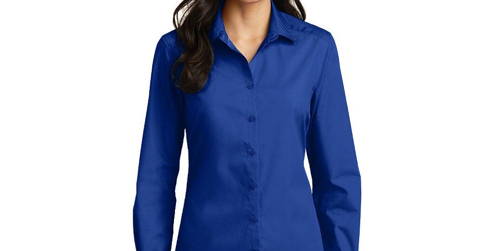 Port Authority Ladies Long Sleeve Carefree Poplin Shirt LW100
