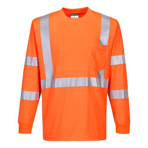 Hi-Vis Long Sleeve Ribbed Cuff T-Shirt S192
