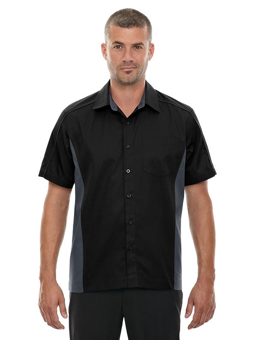 North End Men's Tall Fuse Colorblock Twill Shirt 87042T