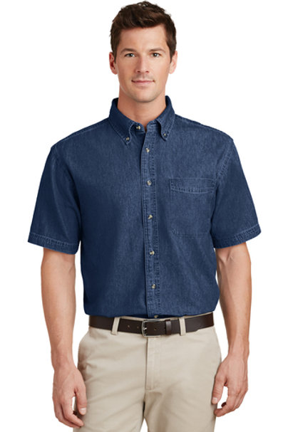 Port & Company Short Sleeve Value Denim Shirt SP11