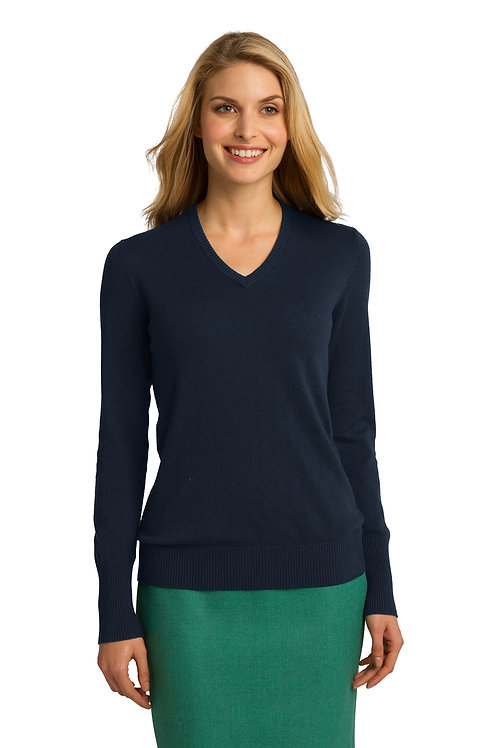 Port Authority® Ladies V-Neck Sweater LSW285