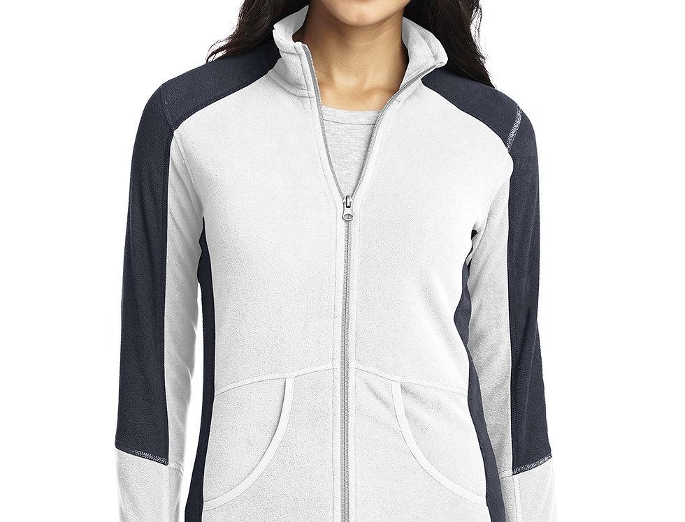 Port Authority® Ladies Colorblock Microfleece Jacket L230