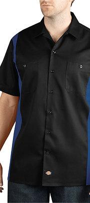 Dickies Men's Two-Tone Short-Sleeve Work Shirt WS508