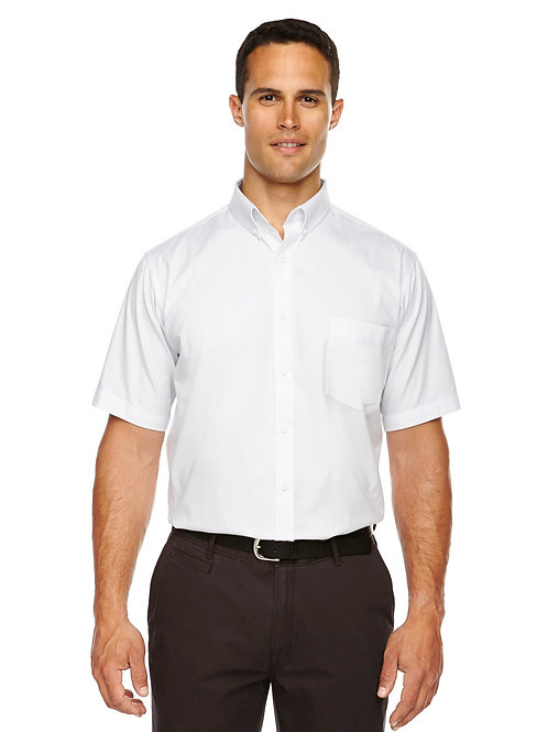 Core 365 Men's Tall Optimum Short-Sleeve Twill Shirt 88194T