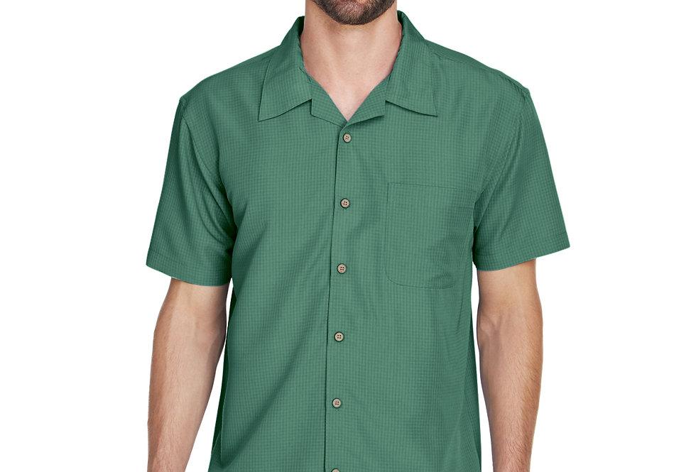 Harriton Men's Barbados Textured Camp Shirt M560