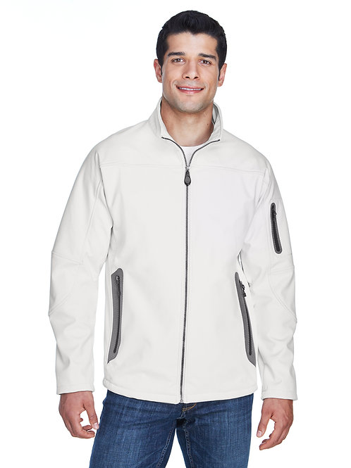 North End Men's Three-Layer Fleece Bonded Soft Shell Technical Jacket 88138