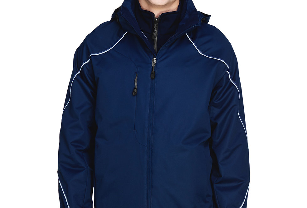 North End Men's Angle 3-in-1 Jacket with Bonded Fleece Liner 88196