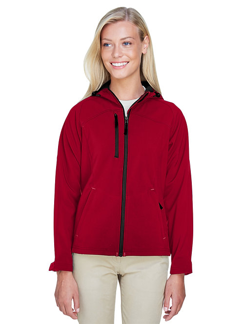 North End Ladies' Prospect Two-Layer Fleece Bonded Soft Shell Hooded Jacket 7816