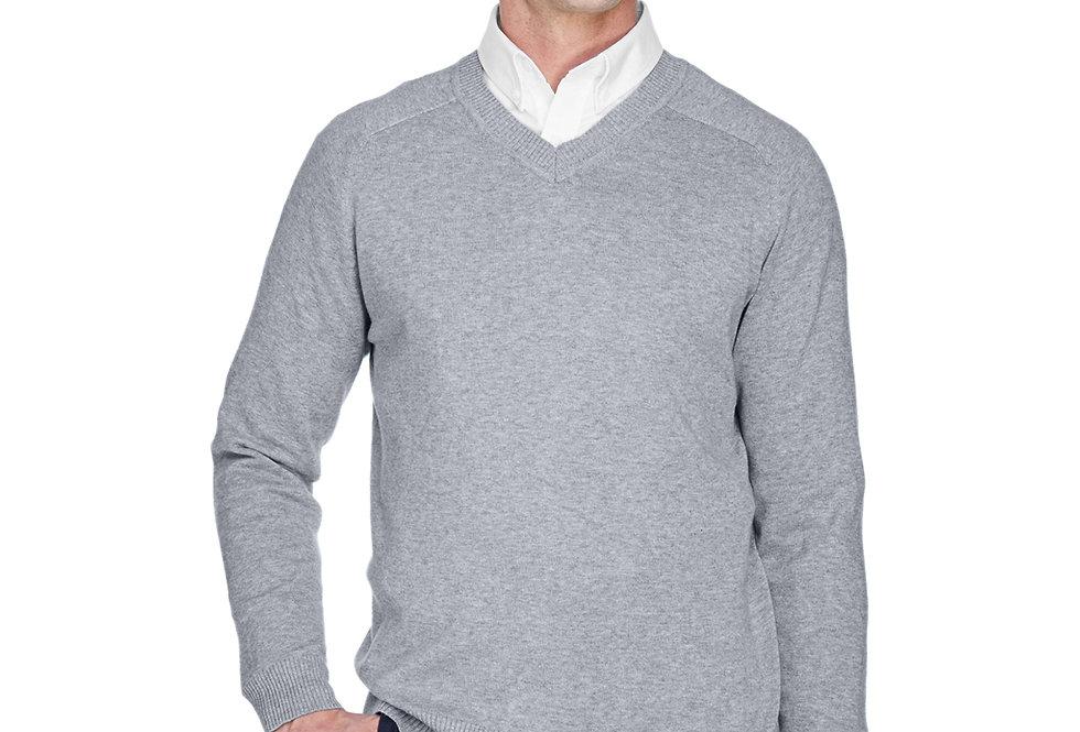 Devon & Jones Men's V-Neck Sweater D475