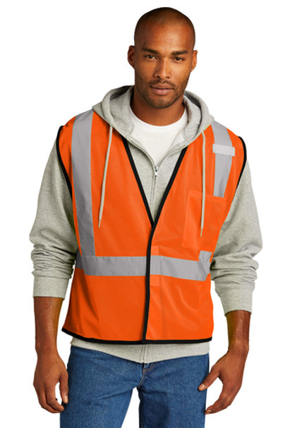 CornerStone ® ANSI 107 Class 2 Economy Mesh One-Pocket Vest CSV100