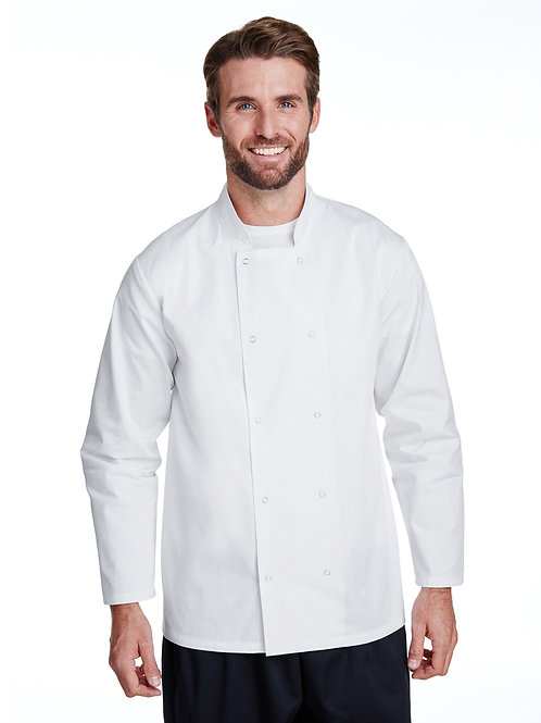 Artisan Collection by Reprime Unisex Studded Front Long-Sleeve Chef's Coat RP665