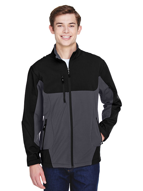 North End Men's Compass Colorblock Three-Layer Fleece Bonded Soft Shell 88156