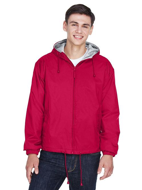 UltraClub Adult Fleece-Lined Hooded Jacket 8915