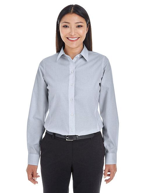 Devon & Jones Ladies' Crown Woven Collection™ Striped Shirt DG534W