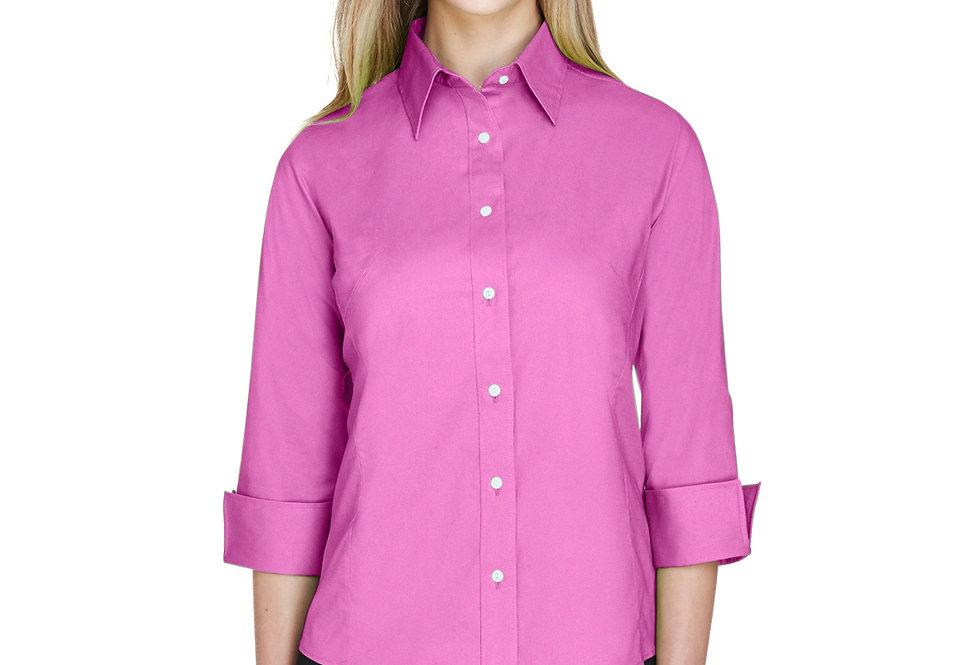 Devon & Jones Ladies' Perfect Fit™ 3/4-Sleeve Stretch Poplin Blouse DP625W