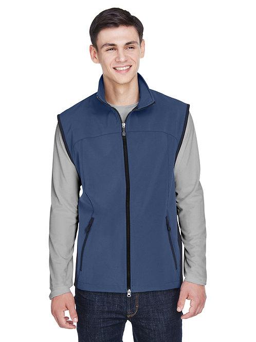 North End Men's Three-Layer Light Bonded Performance Soft Shell Vest 88127