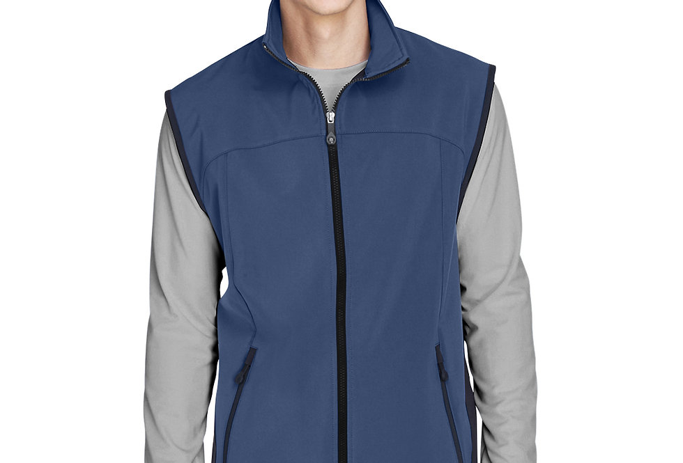 North End Men's Three-Layer Light Bonded Performance Soft Shell Vest 88127