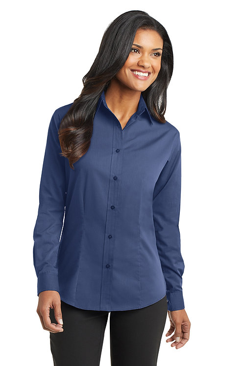 Port Authority® Ladies Tonal Pattern Easy Care Shirt L613
