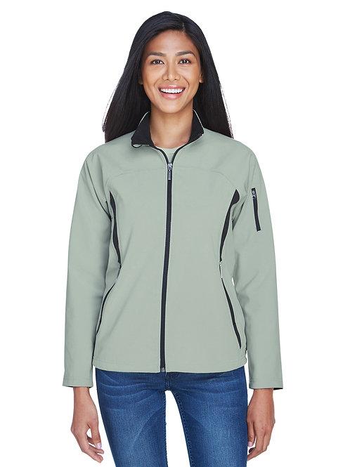North End Ladies' Three-Layer Fleece Bonded Performance Soft Shell Jacket 78034