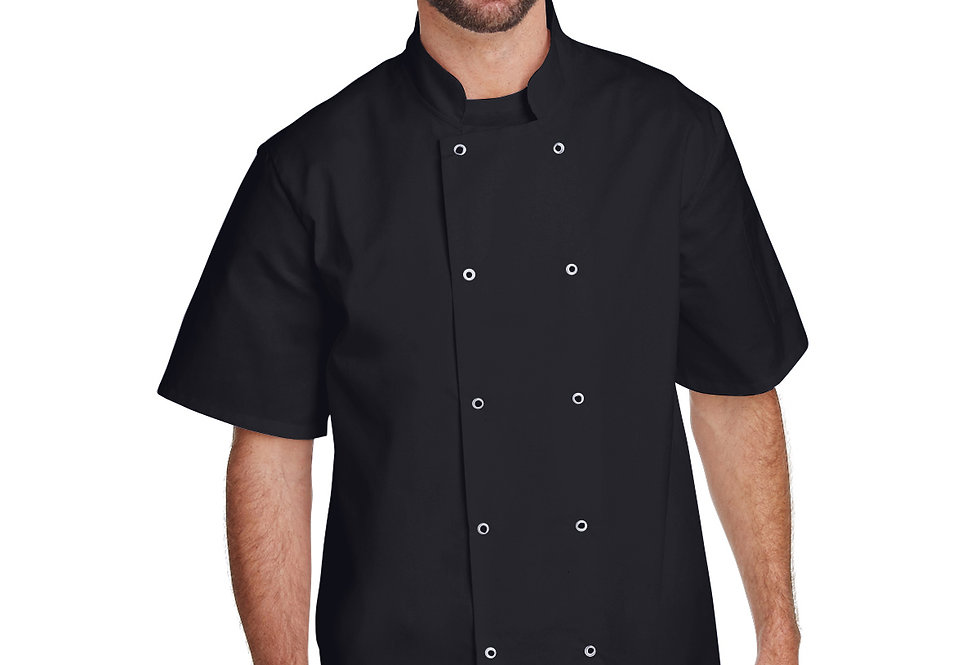 Artisan Collection by Reprime Unisex Studded Front ShortSleeve Chef's Coat RP664
