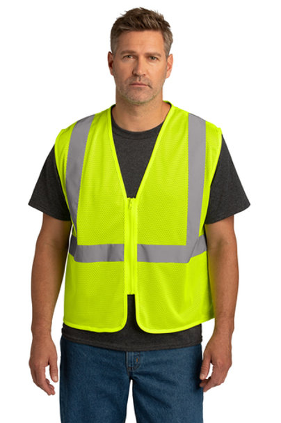 CornerStone® ANSI 107 Class 2 Economy Mesh Zippered Vest CSV101
