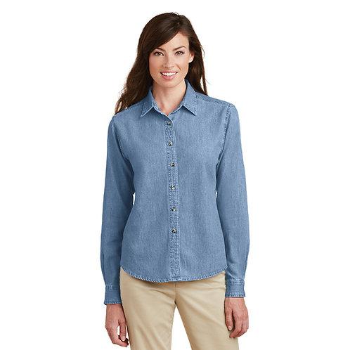 Port & Company Ladies Long Sleeve Value Denim Shirt LSP10