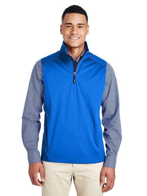 Core 365 Men's Techno Lite Three-Layer Knit Tech-Shell Quarter-Zip Vest CE709