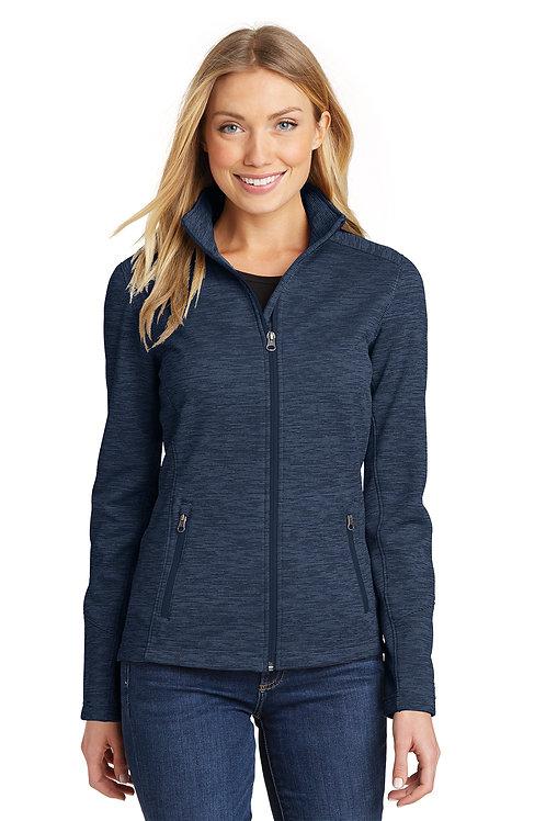 Port Authority® Ladies Digi Stripe Fleece Jacket L231