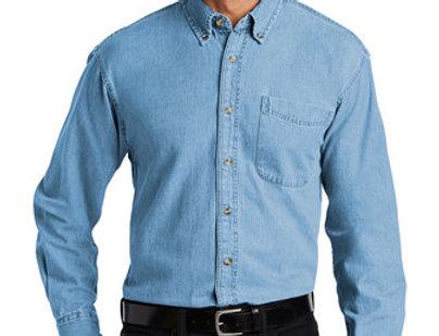 Port Authority Long Sleeve Denim Shirt S600