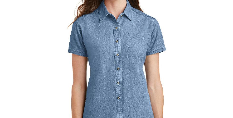 Port & Company Ladies Short Sleeve Value Denim Shirt LSP11