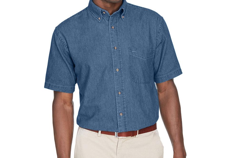 Harriton Men's 6.5 oz. Short-Sleeve Denim Shirt M550S