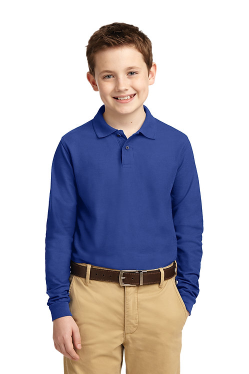 Port Authority Youth Silk Touch Long Sleeve Polo  Y500LS