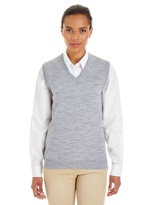 Harriton Ladies' Pilbloc™ V-Neck Sweater Vest M415W