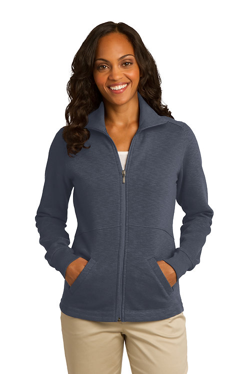 Port Authority® Ladies Slub Fleece Full-Zip Jacket L293