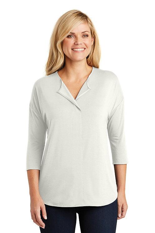 Port Authority Ladies Concept 3/4-Sleeve Soft Split Neck Top LK5433