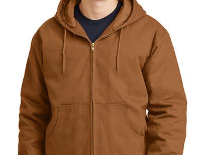CornerStone® - Duck Cloth Hooded Work Jacket J763H