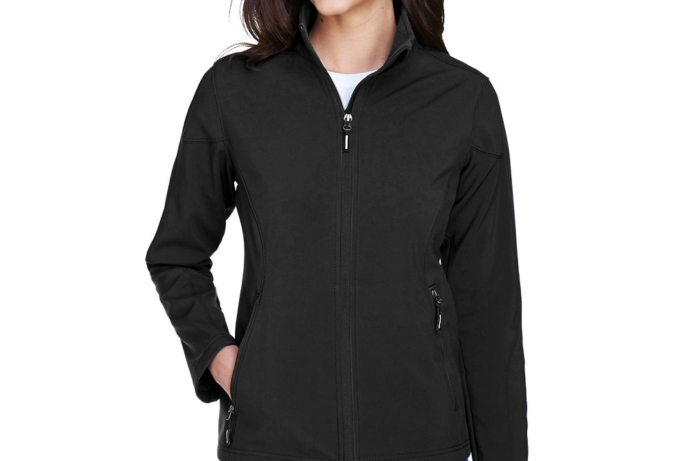 Core 365 Ladies' Cruise Two-Layer Fleece Bonded Soft Shell Jacket 78184