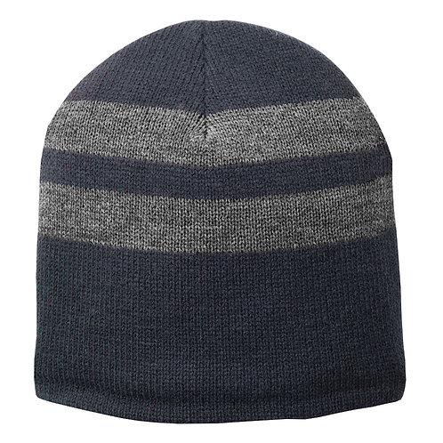 Port & Company Fleece-Lined Striped Beanie Cap C922