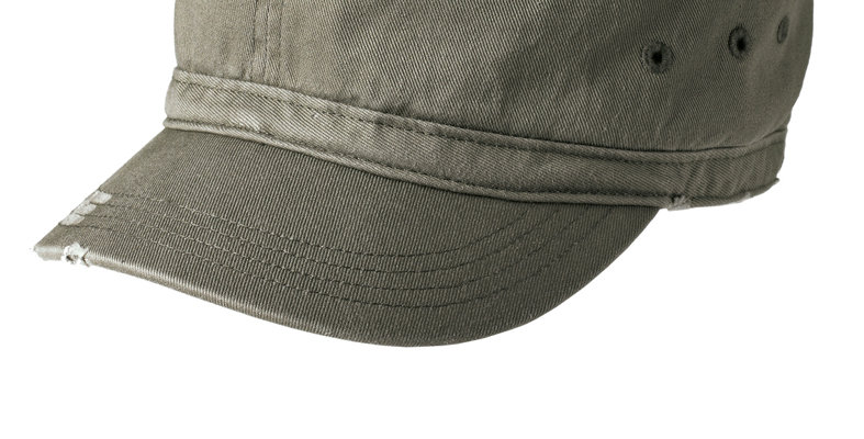 District Distressed Military Hat DT605