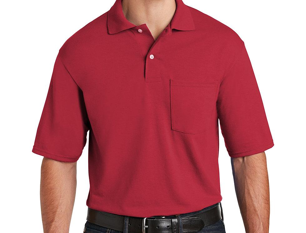 JERZEES SpotShield 5.6-Ounce Jersey Knit Sport Shirt with Pocket  436MP