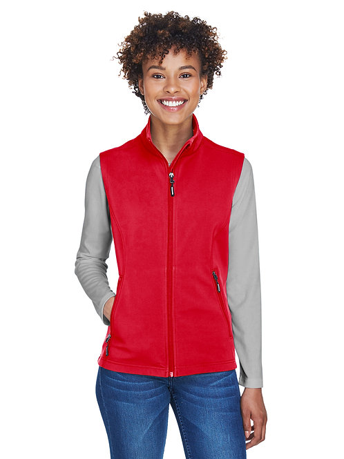 Core 365 Ladies' Cruise Two-Layer Fleece Bonded Soft Shell Vest CE701W