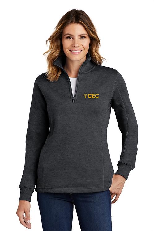 Sport-Tek® Ladies 1/4-Zip Sweatshirt LST253