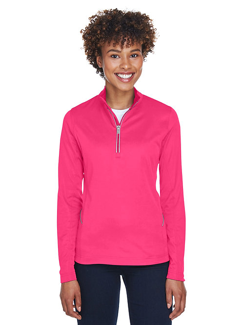 UltraClub Ladies' Cool & Dry Sport Quarter-Zip Pullover 8230L