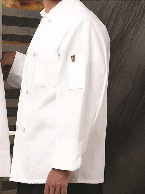 Chef Designs - Button Chef Coat with Thermometer Pocket - 0413