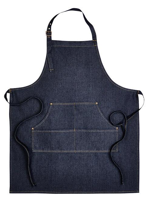 Artisan Collection by Reprime Unisex Jeans Stitch Denim Bib Apron RP126