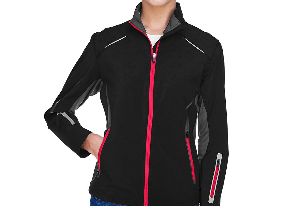 North End Ladies' Pursuit Three-Layer Light Bonded Hybrid Soft Shell 78678