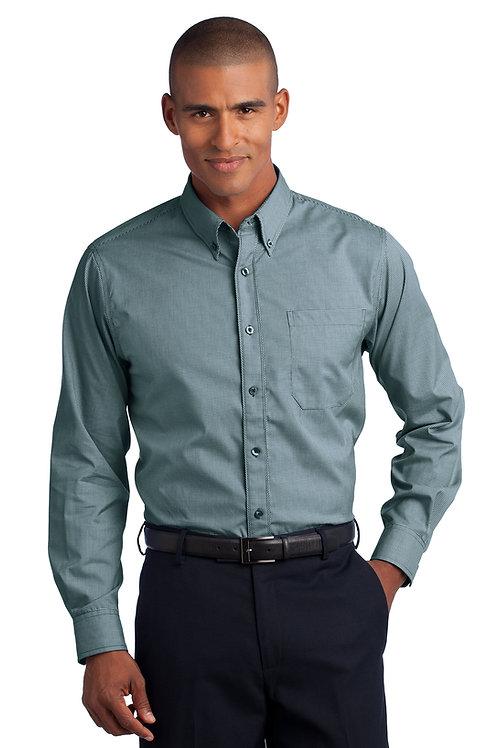 Red House® - Mini-Check Non-Iron Button-Down Shirt RH66