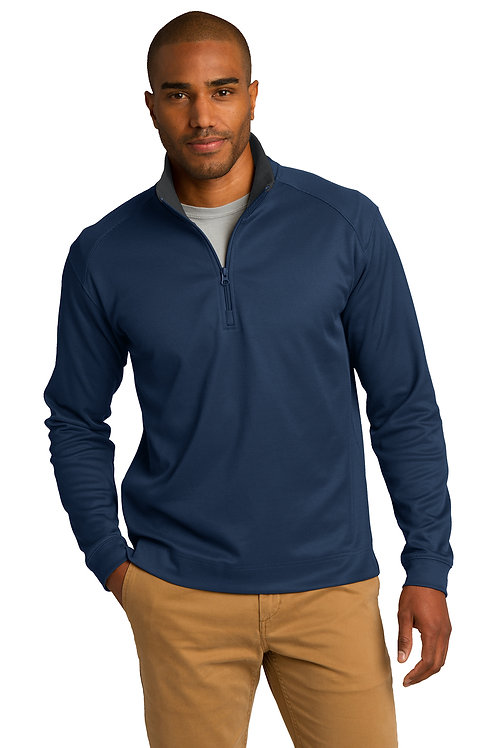 Port Authority® Vertical Texture 1/4-Zip Pullover K805