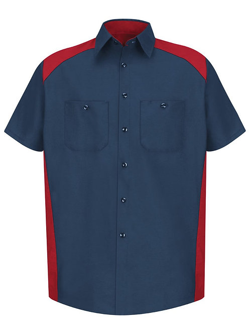 Red Kap - Short Sleeve Motorsports Shirt Long Sizes - SP28L